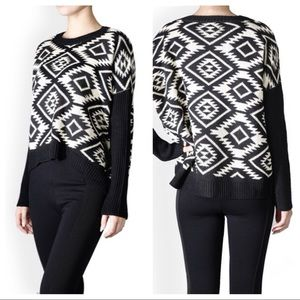 ⭐️SALE!⭐️ Tribal Jacquard Sweater (Black)